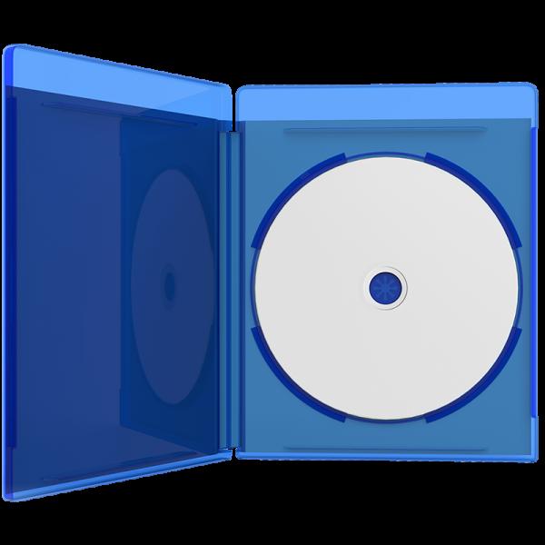 Blu-ray disc in case